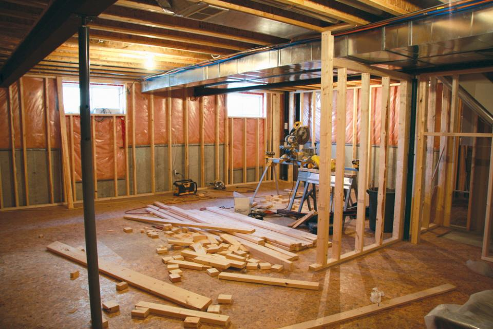 basement insulation in renovation