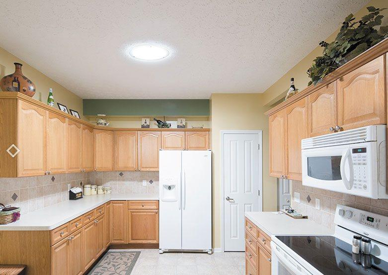 Kitchen lit by Suntube Lighting